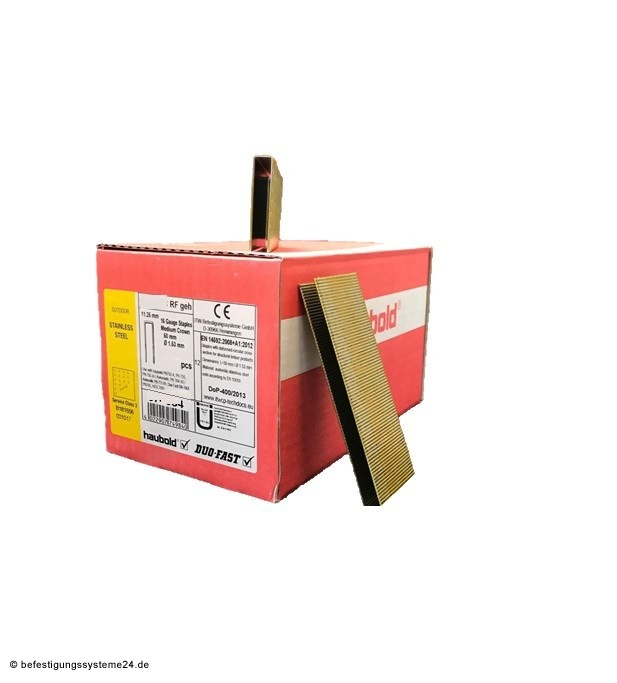 Haubold Klammer KG 750 CRF geh. V2A Edelstahl